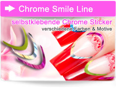Chrome Smile Line Aufkleber