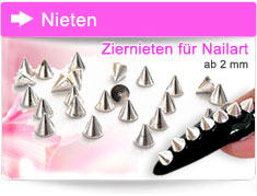 Ziernieten Nageldesign