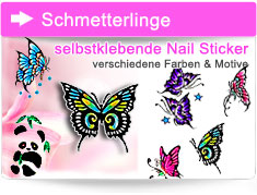 Schmetterling Nailart