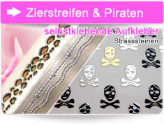 Totenkopf Piraten Nail sticker