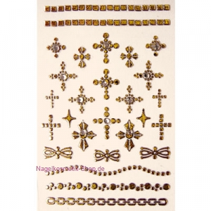 Nail Sticker Kreuz gold