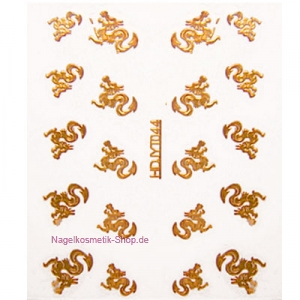 Nail Sticker Drachen gold
