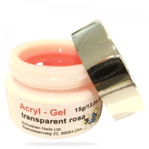 Acryl Gel transparent rosa 15g/13,04ml