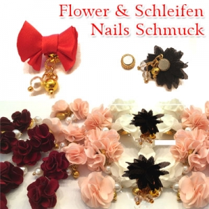 Flower Schleife Schmuck Nails