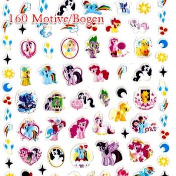My Little Pony Nail Sticker 160 Motive/Bogen